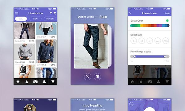 Shopping App UI Screens for iOS