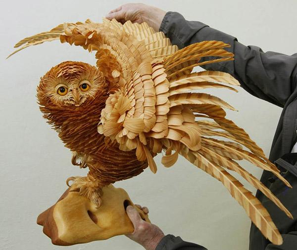 Wooden Sculptures by Sergei Bobkov