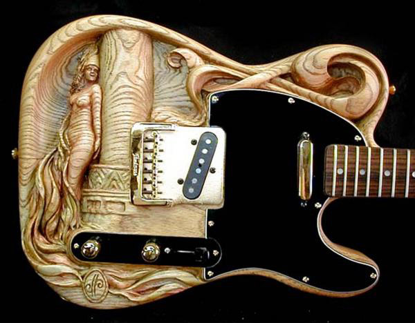 Carved Guitars by Doug Rowell