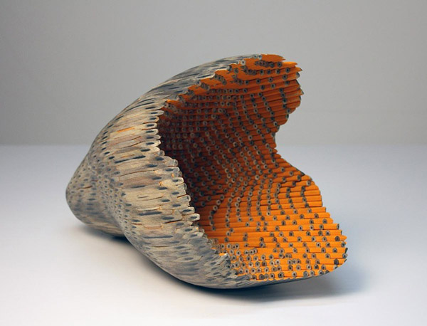 Sculptures Out of Pencils by Jessica Drenk