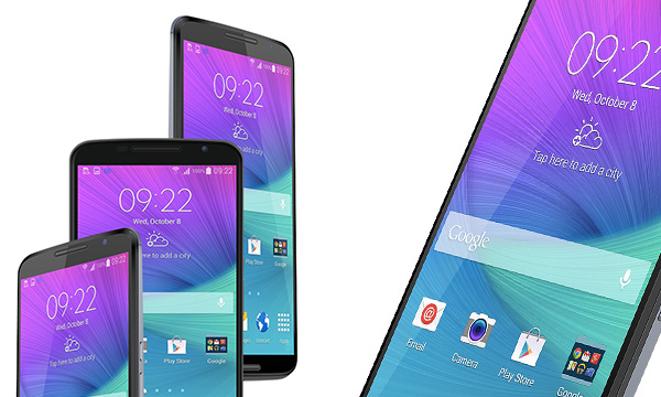 Free Android Based Smartphones Mockup PSD Designs