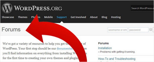 WordPress assistance forums