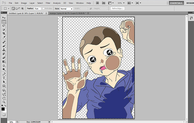 Coloring, filling and editing