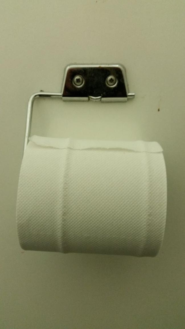 A Friendly Toilet Paper Holder
