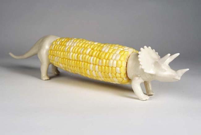 Triceratops Corn Holder
