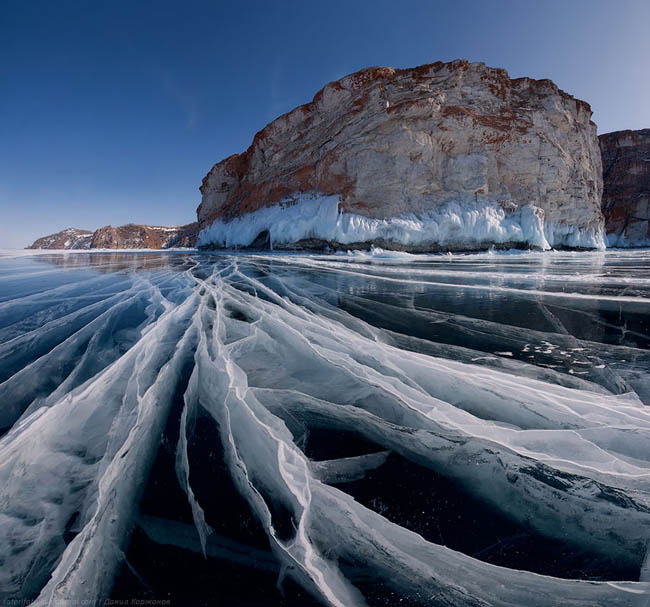 Frozen lakes - Baikal Lake In Russia