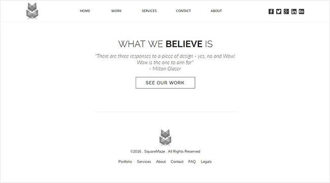 Portfolio Site Landing Page Final Result
