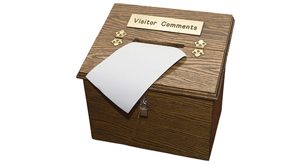 spam as visitor comments
