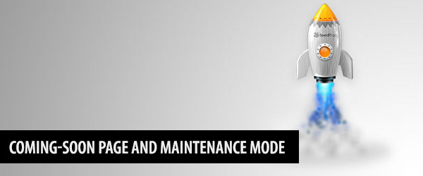 Coming-soon Page and Maintenance Mode