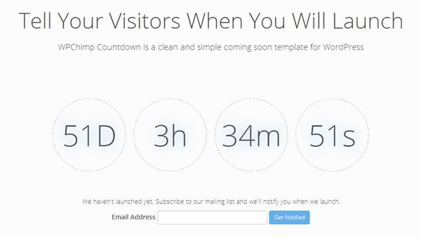 WPChimp Countdown