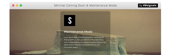 Minimal Coming-soon & Maintenance Mode