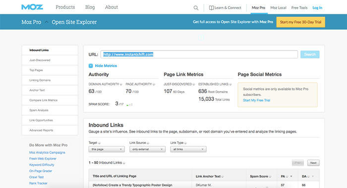Identify Your Competitors Most Linked Content