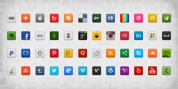 Social Media icons for increased connectivity