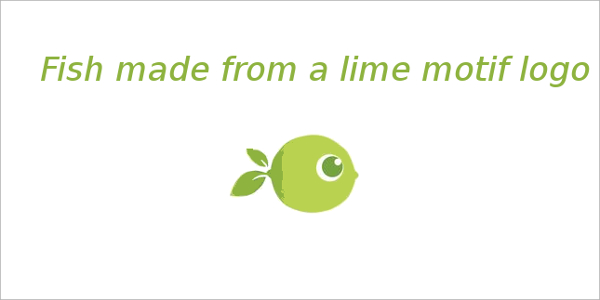 Fish made from a lime motif