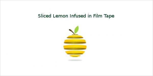 Sliced Lemon Infused in Film Tape