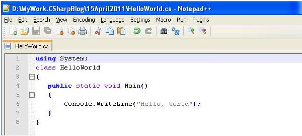 Hello world in .NET