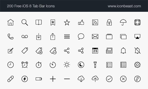 500 iOS Tab Bar Icons