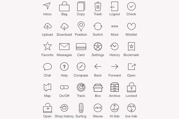iOS7 Tab Bar Icons