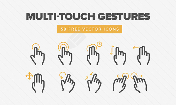 Multi-Touch Gesture Icons
