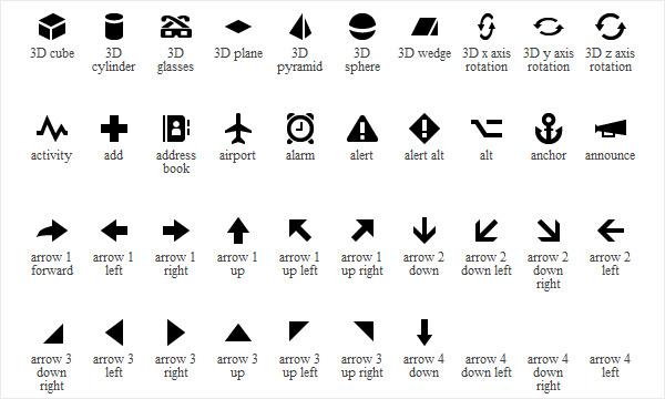 Default Icons