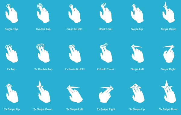 Touch Gesture Icons