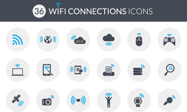 Wi-Fi connections Icons