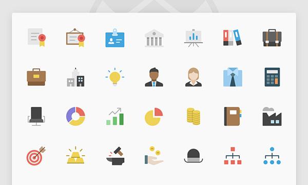 Nucleo Flat Business Icon Set