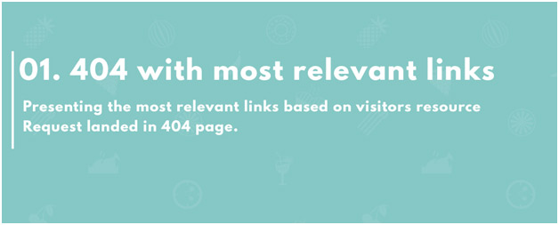 404 page with most relevant link user searched for