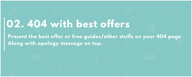 404 page with your best free offers