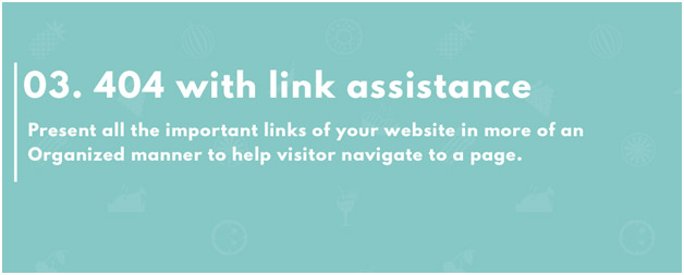 404 page with link assistance