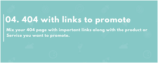 404 page with links you want to promote