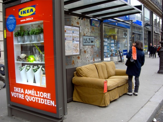 Ikea couch on right place.