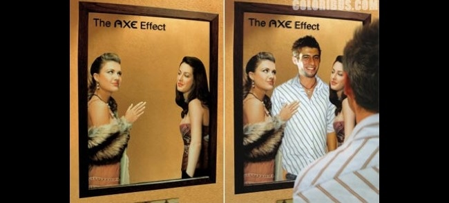A very self-amusing and clever mirror ad by Axe.