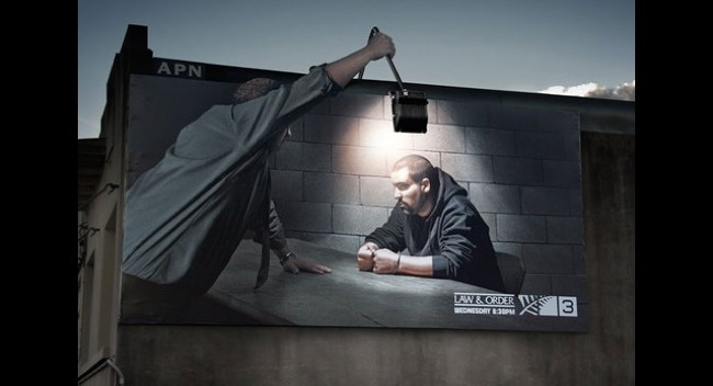 A ad of TV series Law and Order.