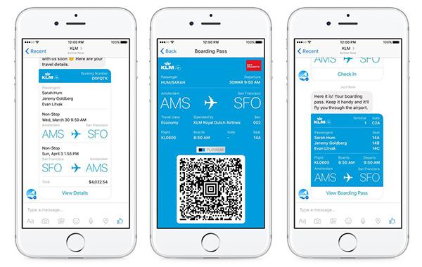 KLM – Flight Updates and Documentation Service Via Messenger