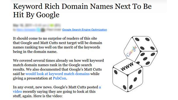 Matching Domain Names With Target Keywords