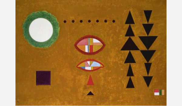 Kandinsky's painting 'White-white' demonstrates clear visual hierarchy.