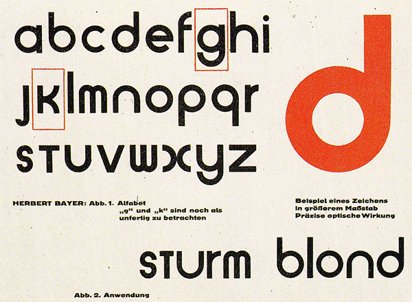 The best of Bauhaus typefaces strive for lucidity and simplicity.
