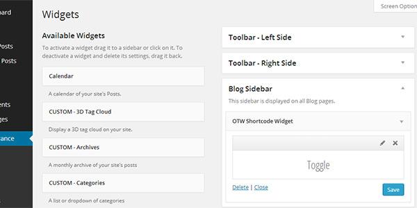 Add a shortcode to widget