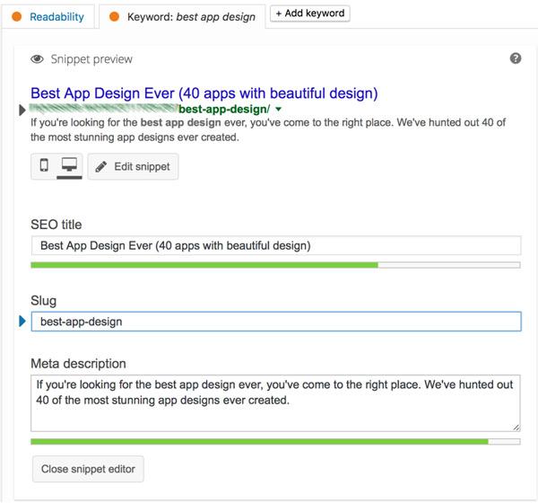 Optimize your blog title and description