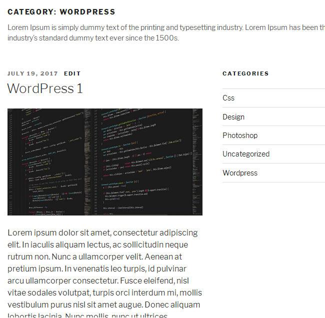 Old WordPress Category