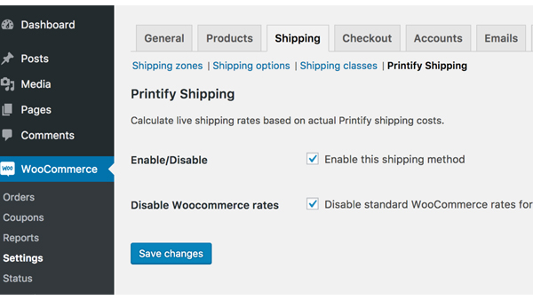 Printify Shipping