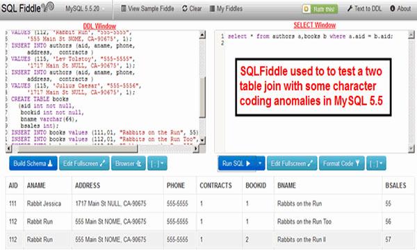 SQL Fiddle