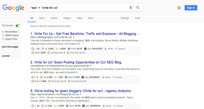 Google Search Method