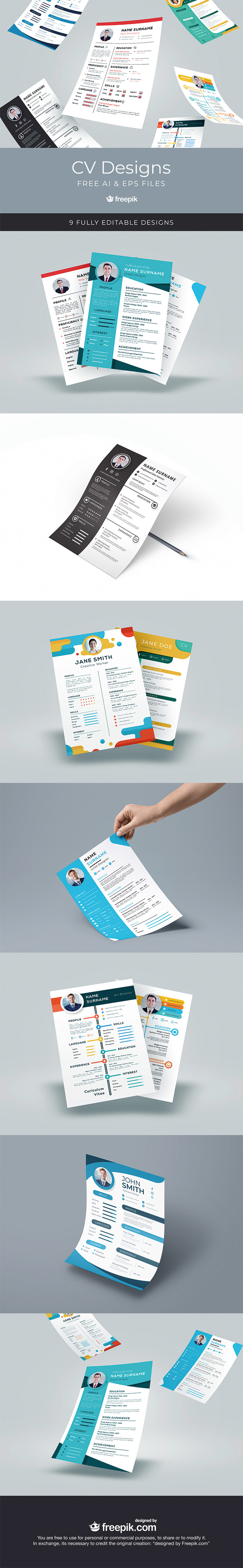 CV Designs Template Set