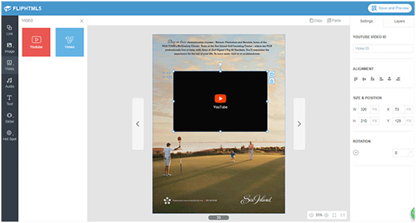 Create and publish interactive magazines