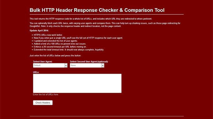 Bulk HTTP Header Response Checker & Comparison Tool