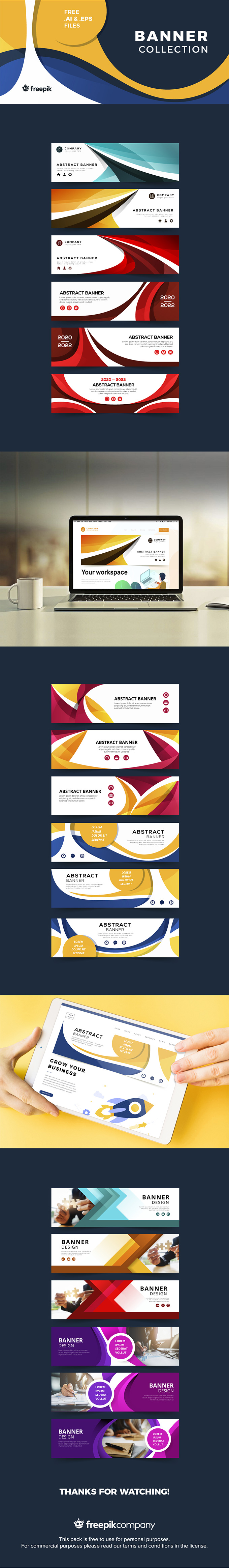 Abstract Banner Set