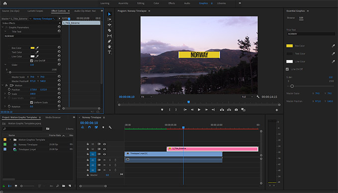 Motion Graphic Panel in Premiere Pro
