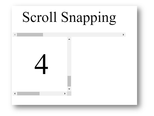 Scroll snapping